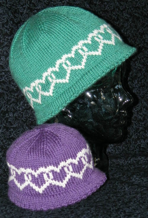 Knitting Pattern Hat With Hearts : Purl Street Knitting Patterns